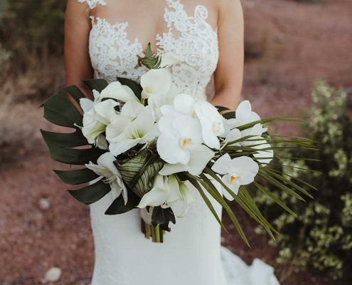 Desert Tropical Fusion Wedding Bride Bouquet