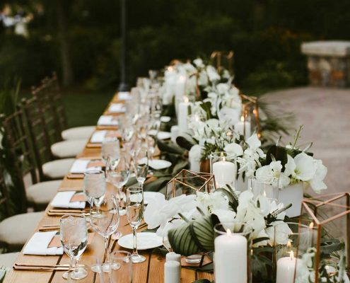 Desert Tropical Fusion Wedding Table Placement