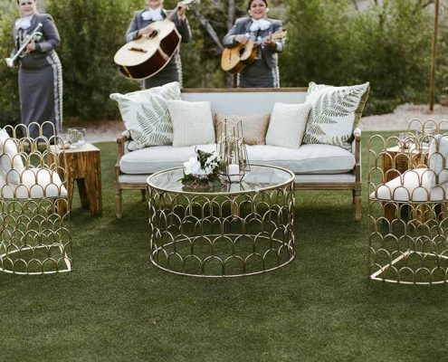 Desert Tropical Fusion Wedding Outdoor Entertainment