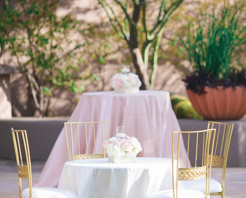 Blissful Romance Wedding Guest Area