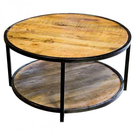 Round Wood Elements Table
