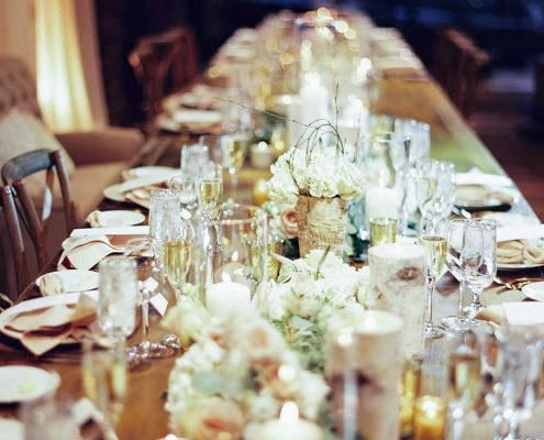 Warm Winter Wedding Table