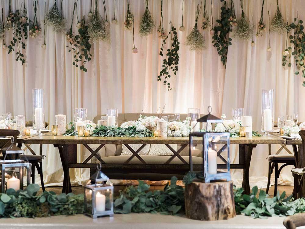 Warm Winter Wedding Design Portfolio Inspired Environments
