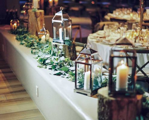 Warm Winter Wedding Buffet
