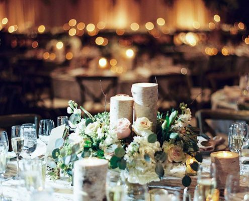 Warm Winter Wedding Reception