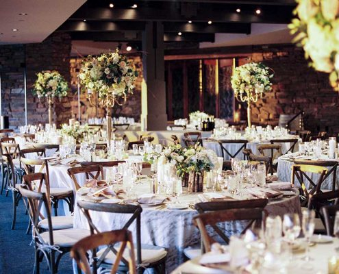 Warm Winter Wedding Guest Tables