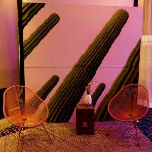 Saguaro Cactus Painting Backdrop
