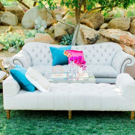 Linen Tufted Couch