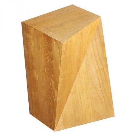 Angled Wood End Table