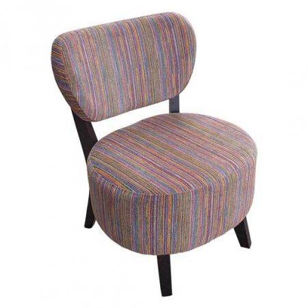 Color Striped Cushion Chair
