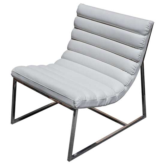 Contemporary White Leather Chair