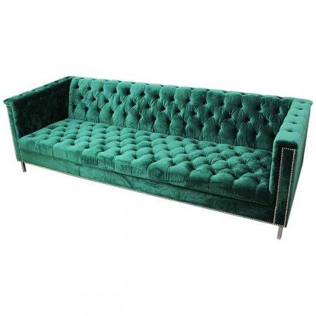 Emerald Tufted Hollywood Sofa