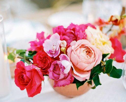 Fuchsia Geometric Wedding Flower Design
