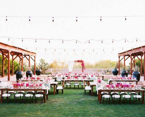 Fuchsia Geometric Wedding Ceremony