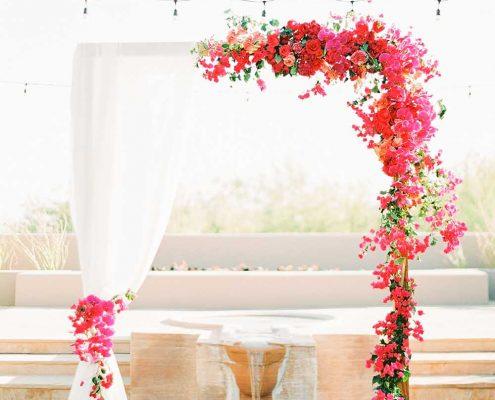 Fuchsia Geometric Wedding