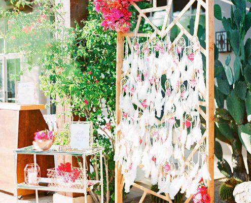Fuchsia Geometric Wedding Design