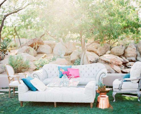 Fuchsia Geometric Wedding Furniture