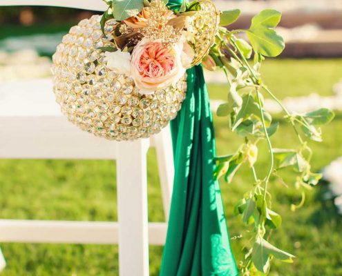 Green and Gold Wedding Detail