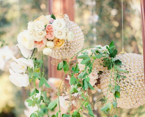 Green and Gold Wedding Design