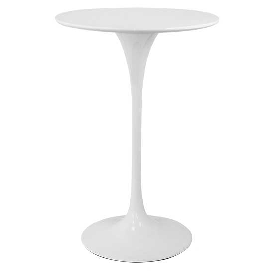 White Tulip Highboy Table