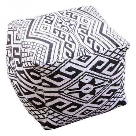 Black & White Aztec Pouf