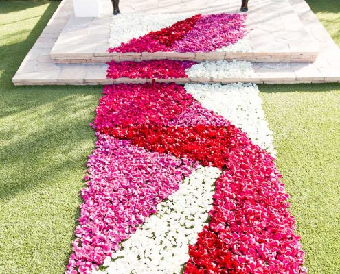 Bold Wedding Flower Path