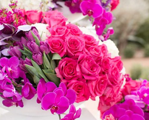 Bold Wedding Floral Arrangement