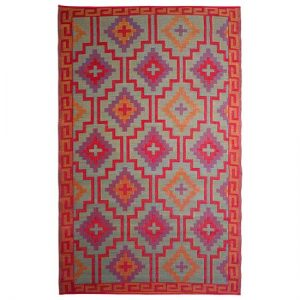 Bright Colored Aztec Rug