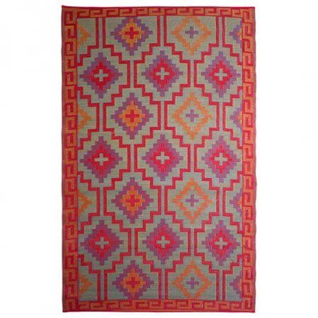 Bright Colored Aztec Rug