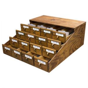 Card Catalog Display