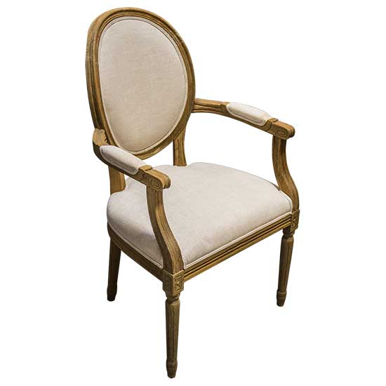 French Arm Round Chair