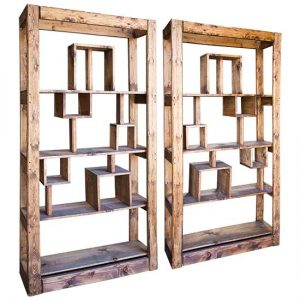 Wood Geometric Barbacks