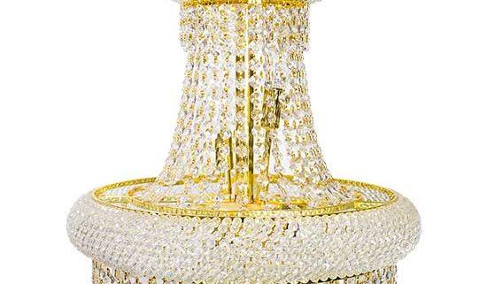 Gold Round Crystal Chandelier