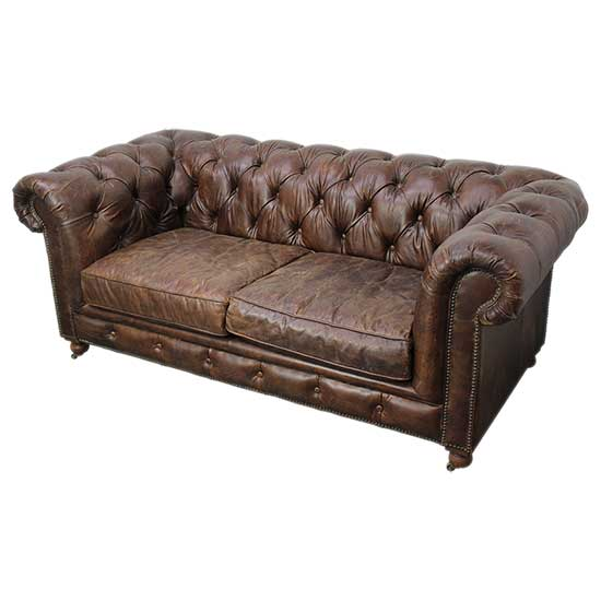 Leather Chesterfield Couch