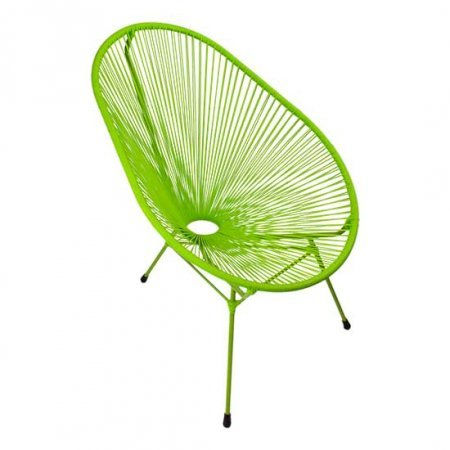 Lime Green Scoop Chair
