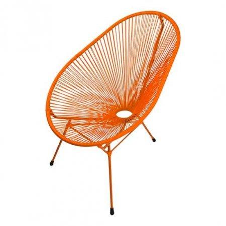 Orange Scoop Chair