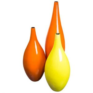 Orange Yellow Accent Vases