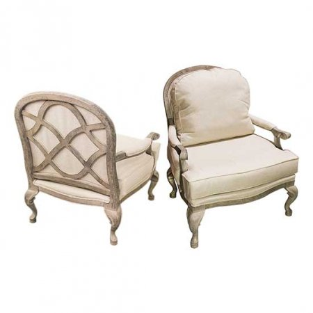 Over Sized Linen Chair