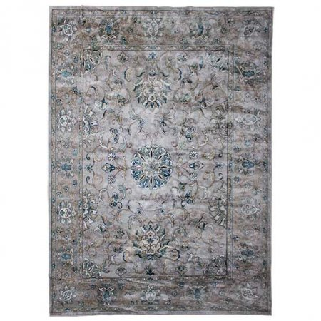Persian Inspired Gray Rug
