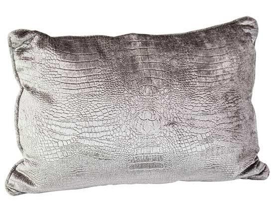 Silver Reptile Pillow