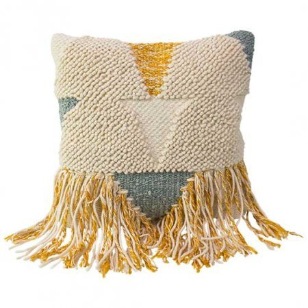 Triangle Fringe Pillow