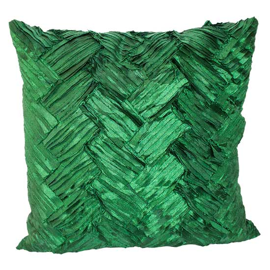Green Weave Pillow