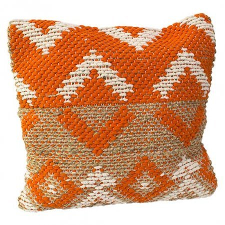 Orange Chevron Pillow