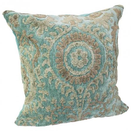 Teal Baroque Pillow