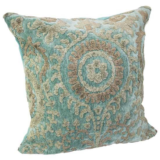 Teal Baroque Pillow