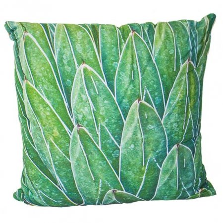 Green Layered Leaf Pillow