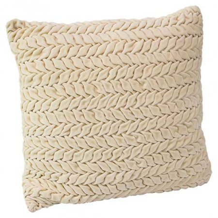 Cream Herringbone Pillow