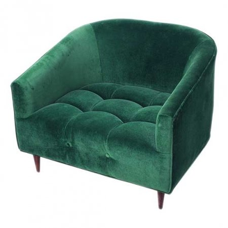 St. Barts Velvet Green Chair