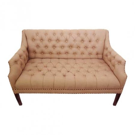 Tan Tufted Bench Seat