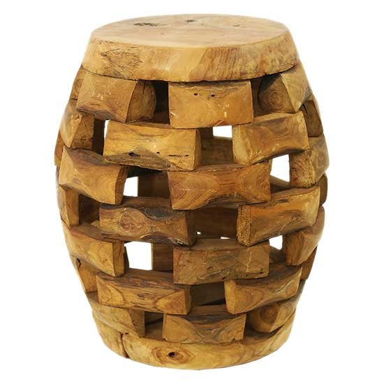 Teak Wood Barrel Table